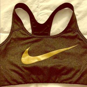 Nike Gold sports bra Sz M
